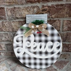 Other - Farmhouse Christmas ornament wreath door hanger